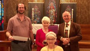 Three Volunteer Worship Leaders Recognized For Their Years of Service