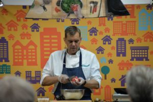 Senior-Centric Healthy Cooking Demo With Chef John Brand